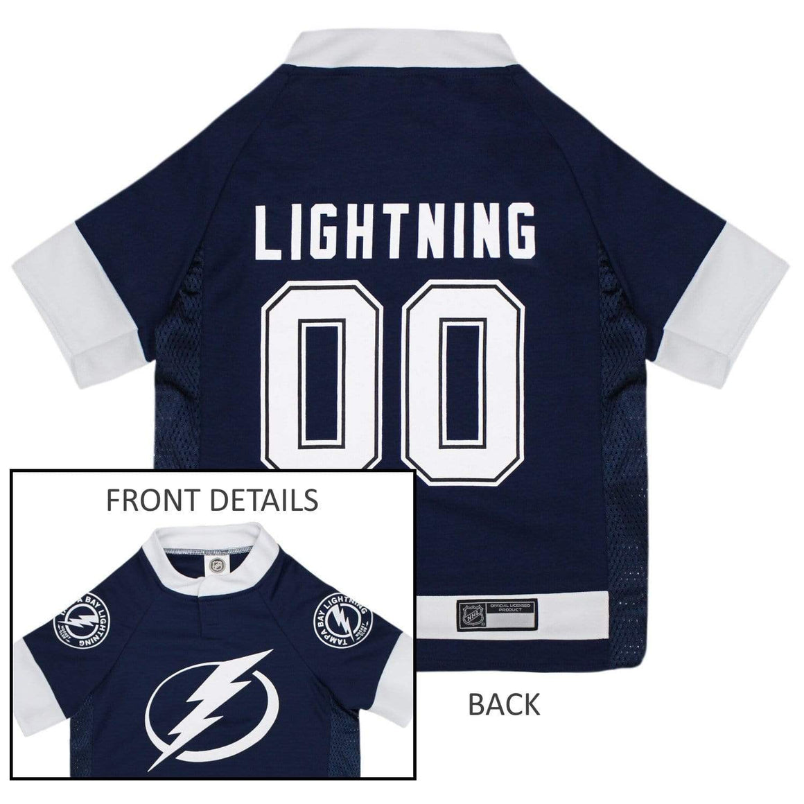 Pets First Dog-products NHL Small Tampa Bay Lightning Pet Jersey