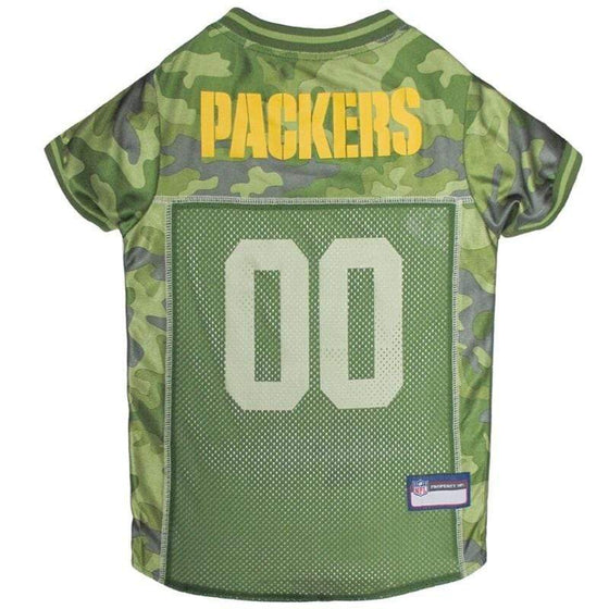 Pets First Dog-products NFL XL Green Bay Packers Pet Camo Jersey