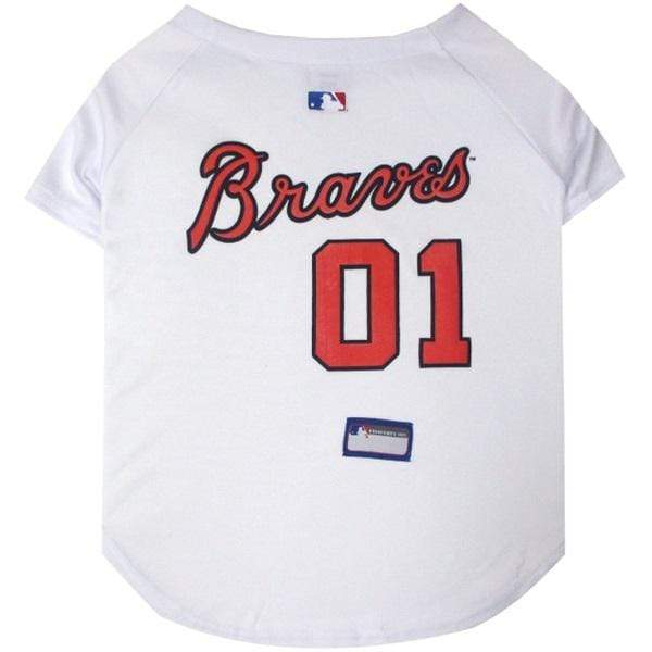 Pets First Dog-products MLB XS Atlanta Braves Pet Jersey