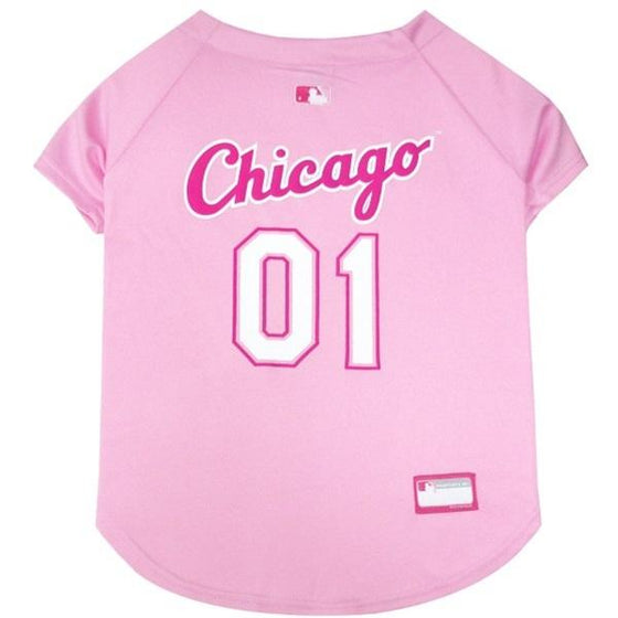 Pets First Dog-products MLB XS Chicago White Sox Pink Pet Jersey