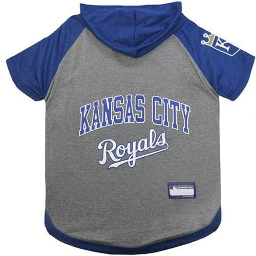 Pets First Dog-products MLB XS Kansas City Royals Pet Hoodie T
