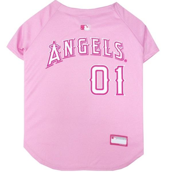 Pets First Dog-products MLB XS Los Angeles Angels Pink Pet Jersey