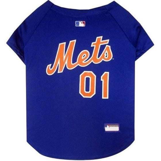 Pets First Dog-products MLB XS New York Mets Pet Jersey