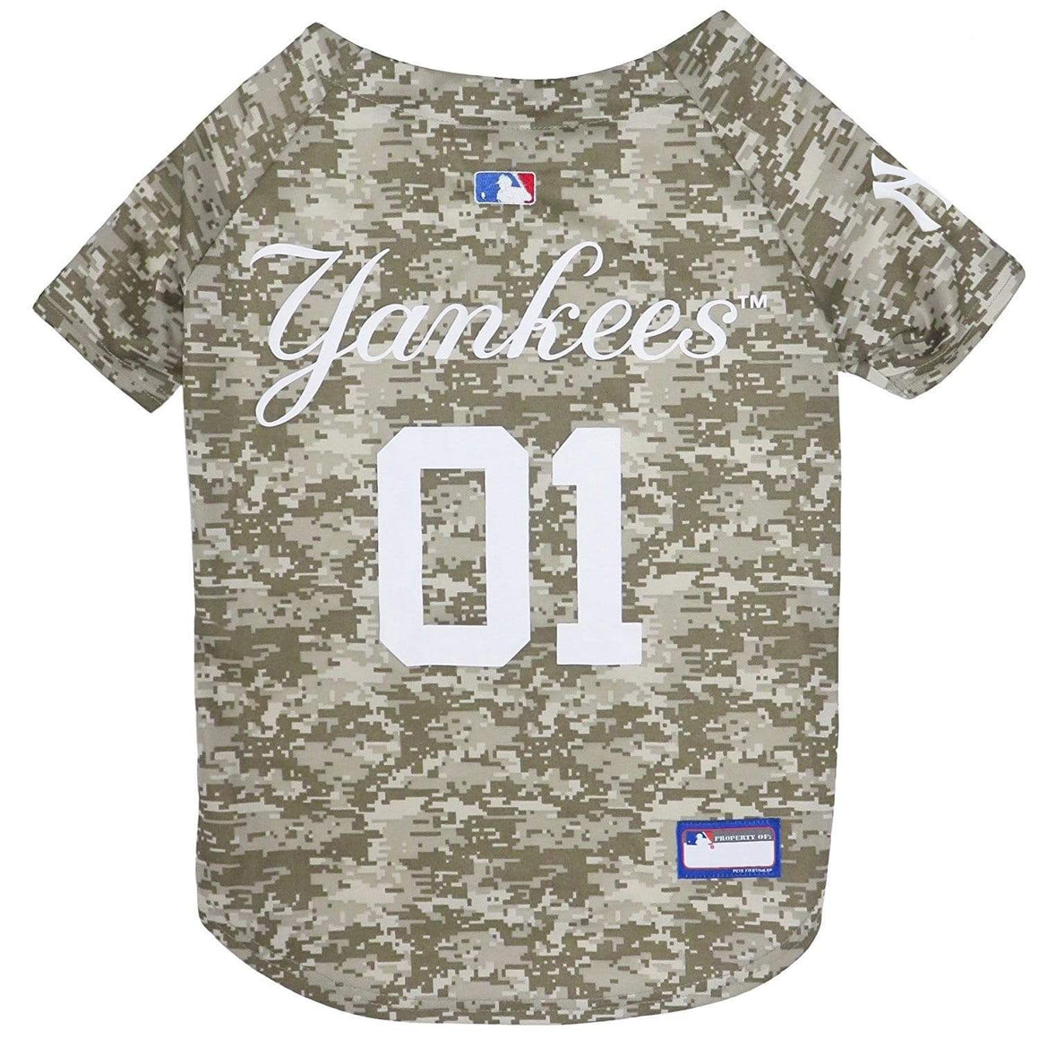 Pets First Dog-products MLB XS New York Yankees Pet Camo Jersey