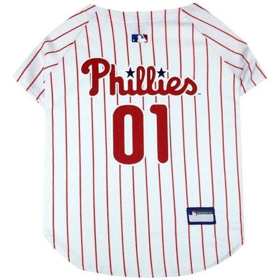 Pets First Dog-products MLB XS Philadelphia Phillies Pet Jersey