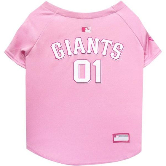 Pets First Dog-products MLB XS San Francisco Giants Pink Pet Jersey