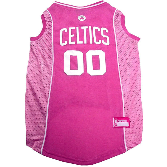 Pets First Dog-products NBA XS Boston Celtics Pink Pet Jersey