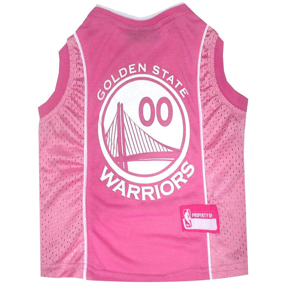 Pets First Dog-products NBA XS Golden State Warriors Pink Pet Jersey