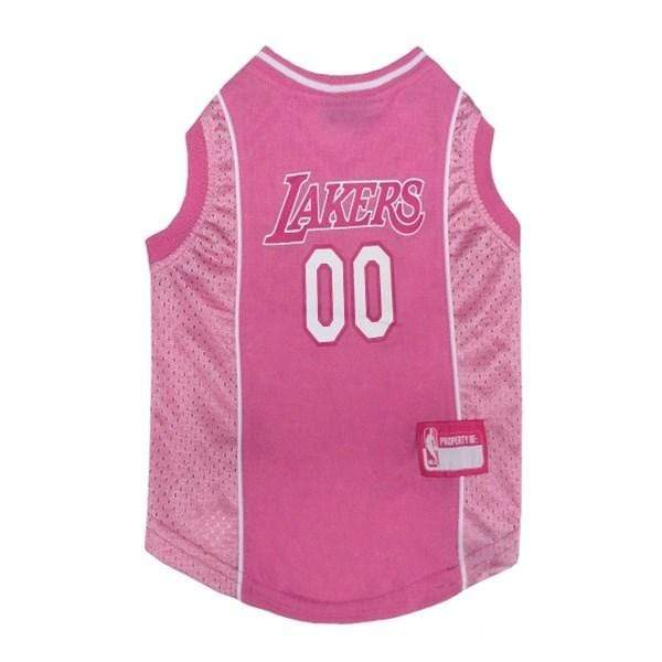 Pets First Dog-products NBA XS Los Angeles Lakers Pink Pet Jersey