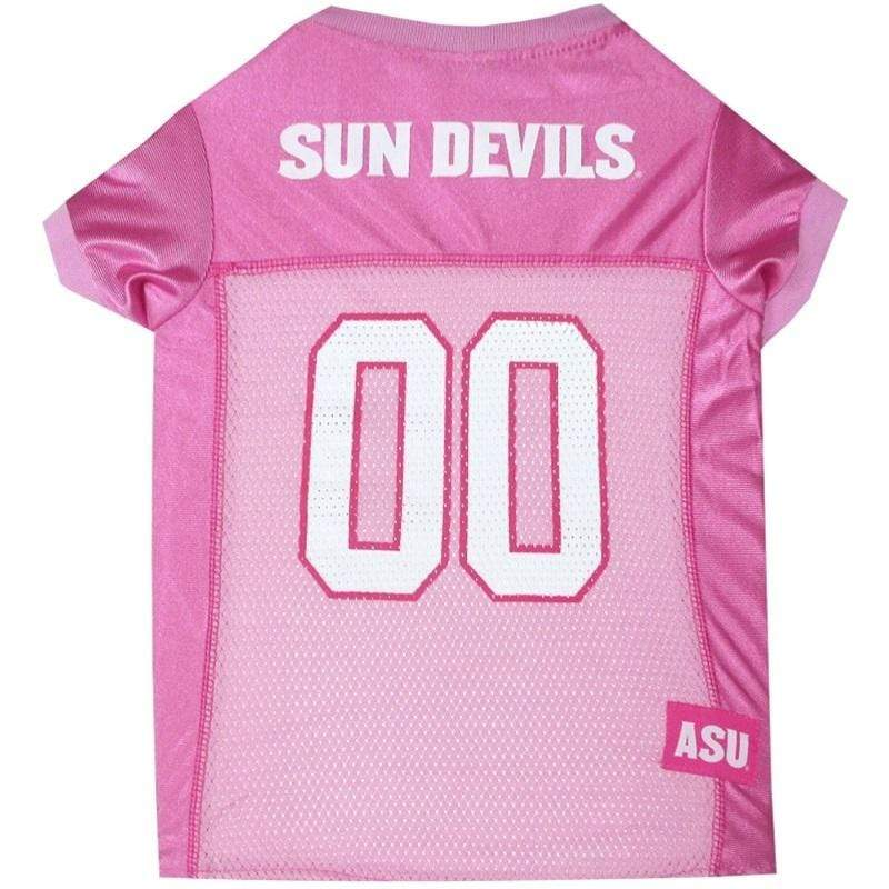 Pets First Dog-products NCAA XS Arizona State Sun Devils Pink Pet Jersey