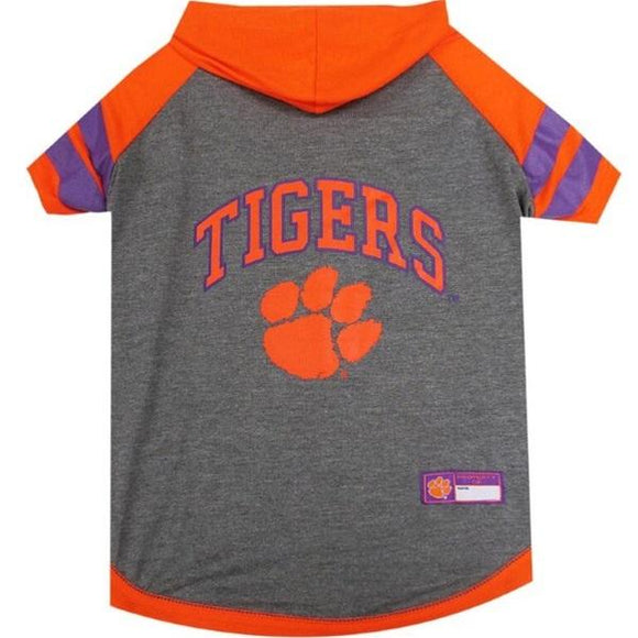 Pets First Dog-products NCAA XS Clemson Tigers Pet Hoodie T