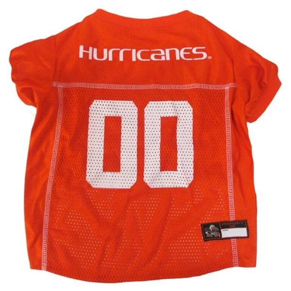 Pets First Dog-products NCAA XS Miami Hurricanes Pet Jersey