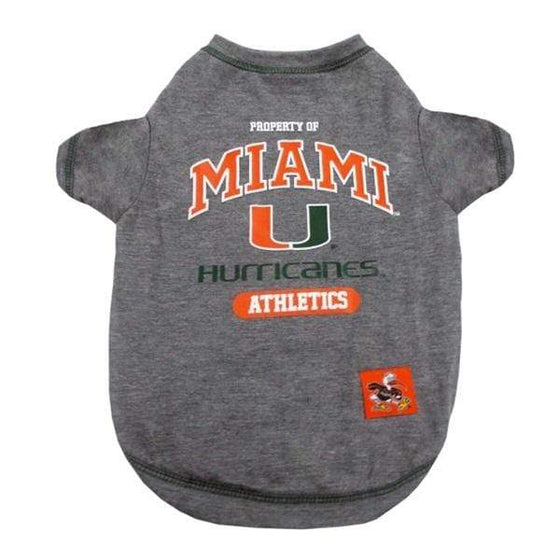 Pets First Dog-products NCAA XS Miami Hurricanes Pet Tee Shirt