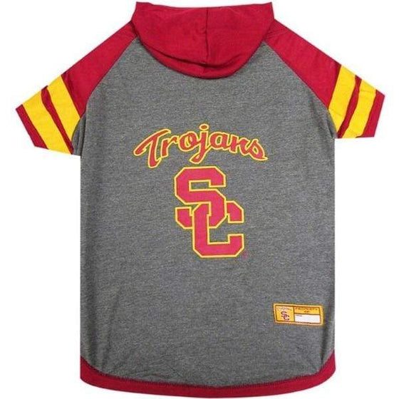 Pets First Dog-products NCAA XS Usc Trojans Pet Hoodie T