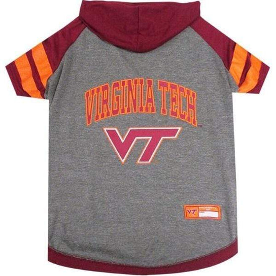 Pets First Dog-products NCAA XS Virginia Tech Hokies Pet Hoodie T