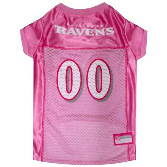 Pets First Dog-products NFL XS Baltimore Ravens Pink Pet Jersey