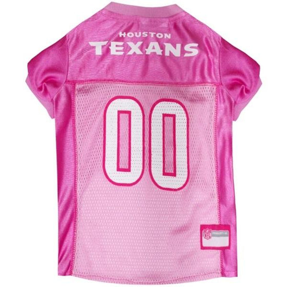 Pets First Dog-products NFL XS Houston Texans Pink Pet Jersey