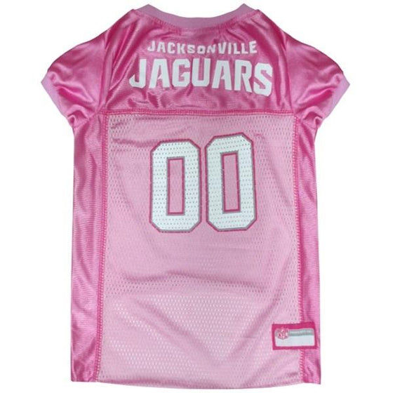 Pets First Dog-products NFL XS Jacksonville Jaguars Pink Pet Jersey