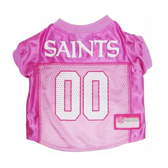 Pets First Dog-products NFL XS New Orleans Saints Pink Dog Jersey