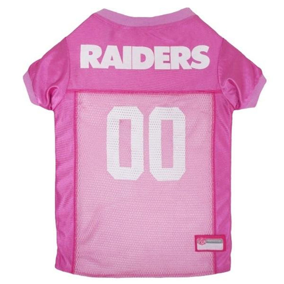Pets First Dog-products NFL XS Oakland Raiders Pink Pet Jersey
