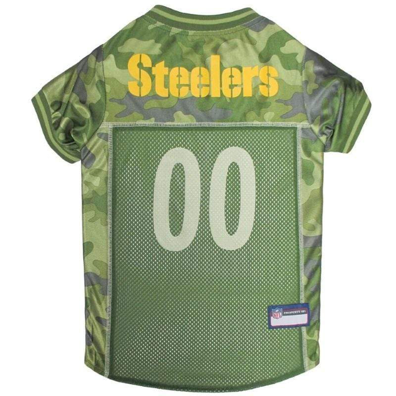 Pets First Dog-products NFL XS Pittsburgh Steelers Pet Camo Jersey