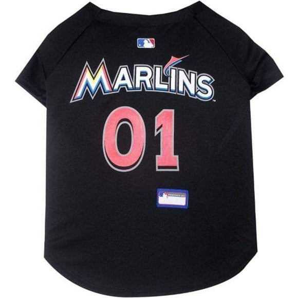 Pets First Dog-products MLB XXL Miami Marlins Pet Jersey