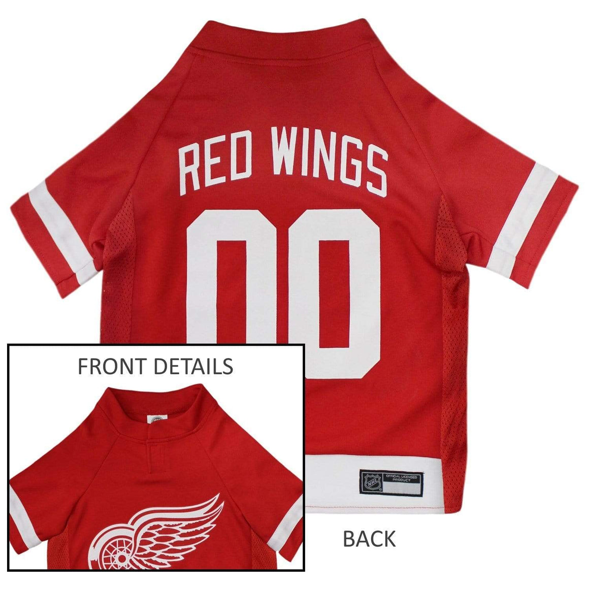 Pets First Dog-products NHL XXL Detroit Red Wings Pet Jersey