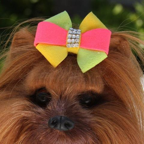 Susan Lanci Dog-products 1 SIZE Angela Hair Bow