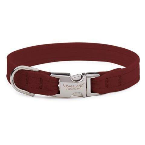 Susan Lanci Dog-products Burgundy Perfect Fit Collar