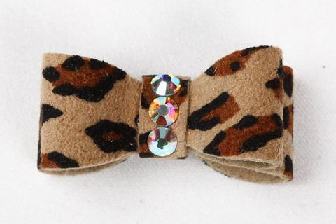 Susan Lanci Dog-products Cheetah Couture Single Plain Hair Bow