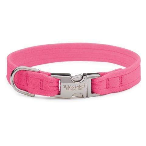 Susan Lanci Dog-products Pink Sapphire Perfect Fit Collar