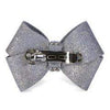 Susan Lanci Dog-products Platinum Glitzerati Single Nouveau Bow Hair Bow