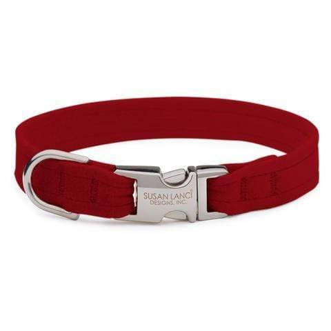 Susan Lanci Dog-products Red Perfect Fit Collar