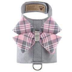 Susan Lanci Dog-products Scotty Bailey Harness Puppy Pink Plaid Nouveau Bow