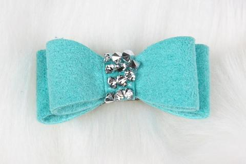 Susan Lanci Dog-products Single Crystal Rocks Hair Bow