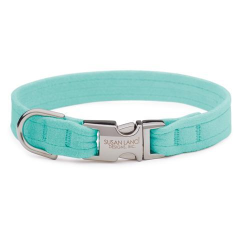 Susan Lanci Dog-products Tiffi Blue Perfect Fit Collar