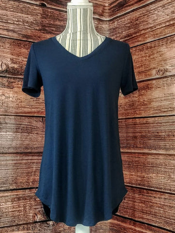 V-Neck Tunic (Navy)