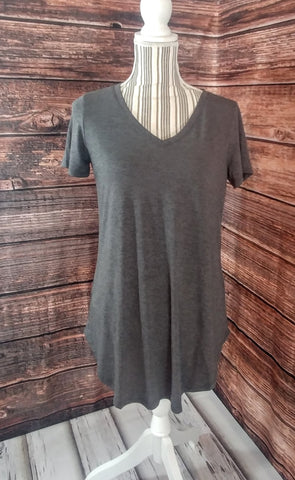 V-Neck Tunic (Charcoal)