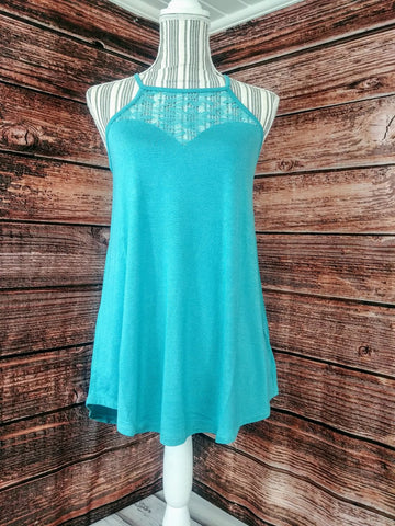 Lace Tank Top (Ash Mint)