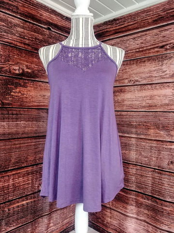 Lace Tank Top (Lilac Grey)