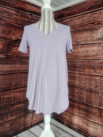 V-Neck Tunic (Dusty Lavender)