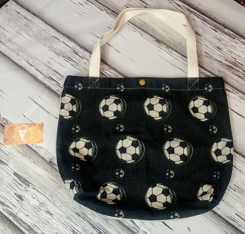 Custom Soccer Canvas Tote