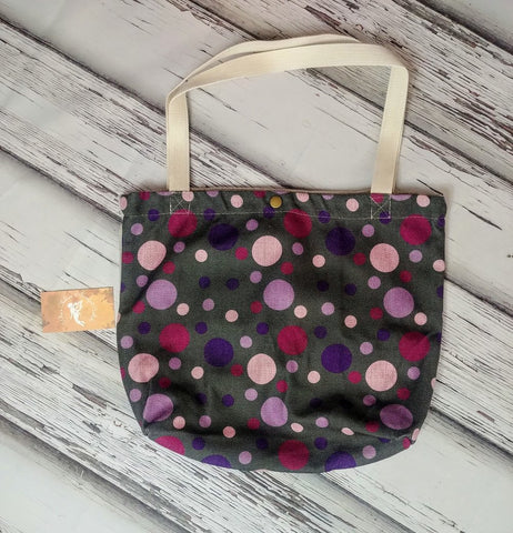 Custom Purple Bubble Canvas Tote