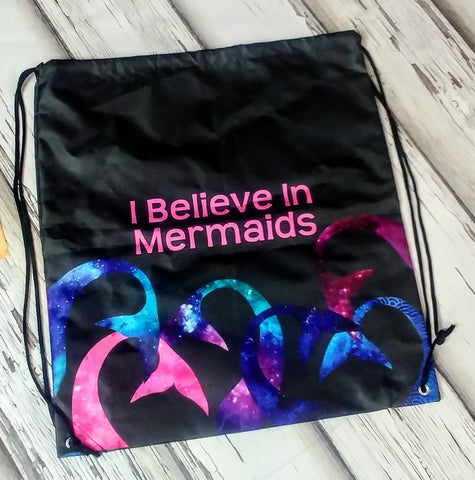 Custom Mermaid Drawstring Backpack