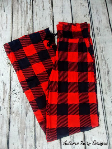 Red Plaid Lounge Pants (Yoga Top)
