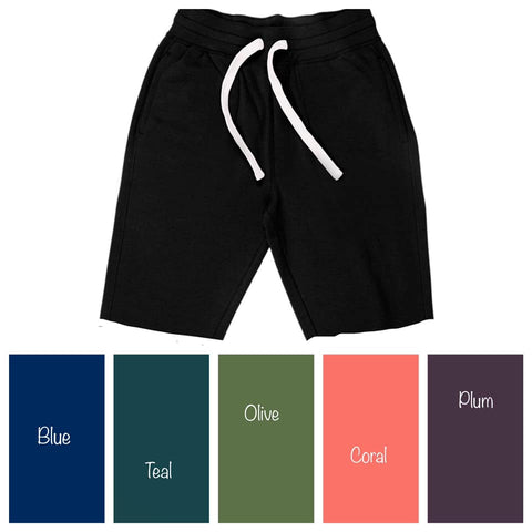 Solid Teal Relax Fit Shorts