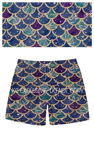 Mermaid Scale Shorts