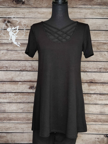Criss Cross Tunic (Black)