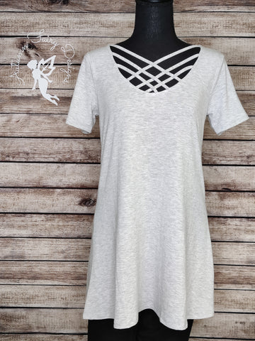 Criss Cross Tunic (Light Grey)