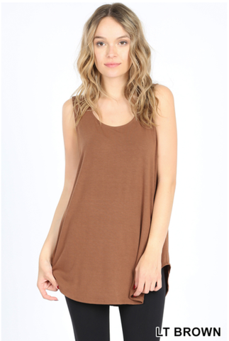 Flowy Tank - Light Brown